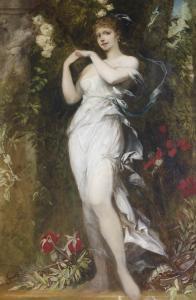 Hans Makart, Die Frau des Künstlers als Flora, 1883. Museum Wiesbaden, Sammlung Ferdinand Wolfgang Neess / Foto: Markus Bollen