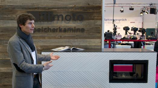 """Thomas Widmer präsentiert auf dem """"Land des Handwerks"""" seine Speicherkamine / Handwerkskammer Reutlingen"""
