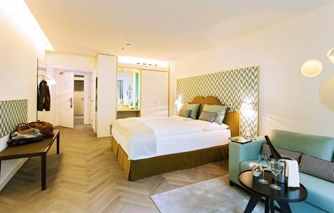 Hotelzimmer im Hotel Margareten, konzipiert von Matteo Thun
