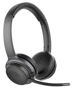 Callstel Profi-Stereo-Headset OHS-280 mit Bluetooth 5, 18-Std.-Akku, 30 m Reichweite