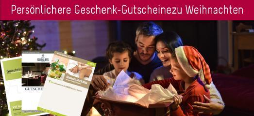 Geschenk-Gutscheine zu Weihnachten