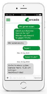 App: Chat auf dem Platz