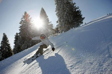 Schwarzwald Skifahrer Alpin