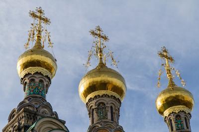 Russisch-orthodoxe Kirchentürme Russisch-orthodoxe Kirchentürme