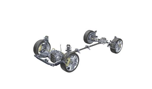 Neuer Opel Insignia 4x4: Radindividuelle Kraftverteilung: Der Opel Insignia Grand Sport verfügt über zwei Lamellenkupplungen, die perfekt dosiertes Drehmoment an jedes Rad leiten