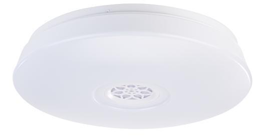 Luminea RGBW-LED-Deckenleuchte, Lichtwecker, Lautsprecher, App, 1.500 lm, 24 Watt