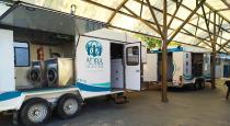 ADRA betreibt in Buenos Aires zwei mobile Wascheinheiten