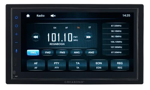 Creasono 2-DIN-Autoradio CAS-5025.acp mit Freisprechfunktion, Apple CarPlay, 4x 25 Watt / Copyright: PEARL. GmbH / www.pearl.de