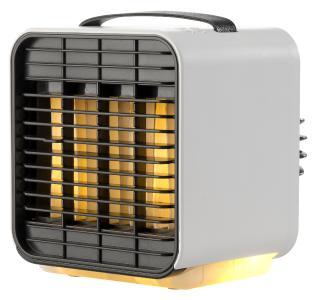 Sichler Haushaltsgeräte Mini-Akku-Luftkühler LW-100, 3-stufig, Nachtlicht-Funktion, 5 Std. Laufzeit