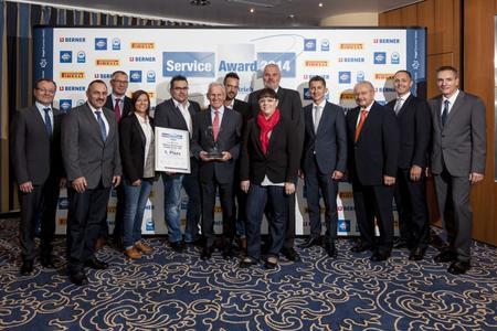 Die Gewinner des Service-Awards 2014 in der Kategorie Nutzfahrzeuge