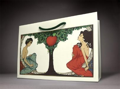 Die Verführung: Werbetasche aus Apfelpapier