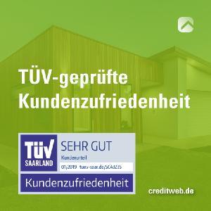 TÜV-geprüfte Kundenzufriedenheit bei creditweb – Meine Baufinanzierung.