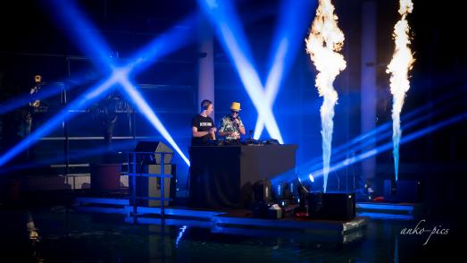 DJ Felix Arnold beim Livestream-Event im Februar 2021 in der Toskana Therme Bad Schandau | Foto: Andre Koch/anko-pics