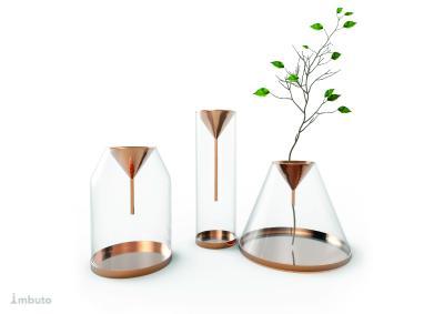 """Varianten an Blumengefäßen bescherten dem Designer Luca Ladiana den zweiten Platz für sein Projekt """"Imbuto"""". Bild: ECI"""