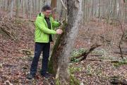 Jürgen Dawo im Nationalpark Hainich - Buchenurwald und UNESCO-Weltnaturerbe