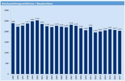 Die Entwicklung der Ausbildungszahlen seit 1995