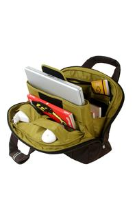 "Large main opening with padded laptop pouch; fits 15"", 15""W Mac and PC"