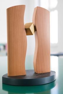 Neben dem Preisgeld gibt es eine handgefertigte Plastik des Freiburger Künstlers Tobias Dingler zu gewinnen (Foto: © KD Busch)