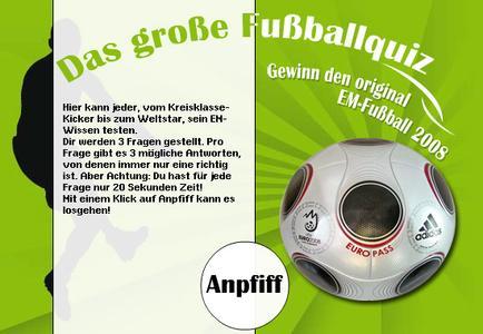 5stargames.de verlost den original Spielball der UEFA Fußball-Europmeisterschaft 2008 von Adidas