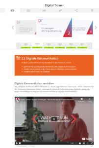 "Auszug aus dem Lernangebot ""Digital Trainer"""
