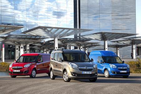 Variabel einsetzbar: Der Combo ist wahlweise als Kastenwagen, Transporter oder mit Hochdach zu haben (von links)