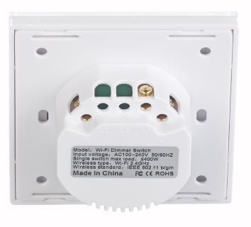 NX 4504 04 Luminea Home Control Touch Lichtschalter und Dimmer LHC 101.dimm. Amazon Alexa und Google Assistant kompatibel