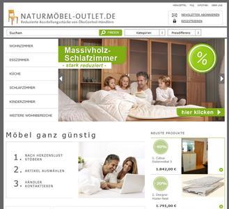 Naturmöbel-Outlet Screenshot