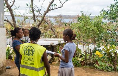 ADRA Vanuatu hilft der Bevölkerung nach dem tropischen Zyklon Harold auf dem Inselstaat im Südpazifik © Foto: ADRA Vanuatu