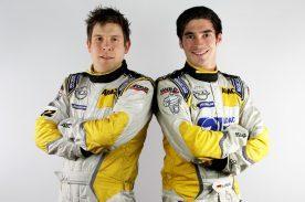Junior-Team: Marijan Griebel (rechts) und sein Copilot Stefan Clemens (links) starten im Opel ADAM R2 bei der Rallye Liepāja
