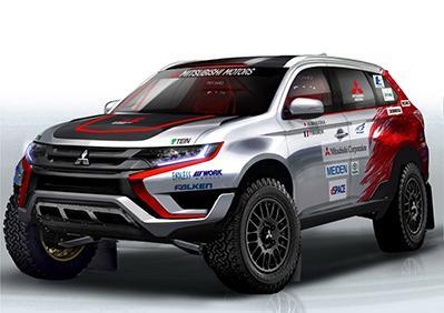 "Plug-in Hybrid Outlander auf der Cross Country-Rallye ""Baja Portalegre 500"""