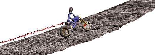 Simulationsumgebung VI-Motorcycle (Bild: Karsten Wunram, Institut für Kraftfahrzeuge,RWTH Aachen)