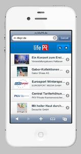"lifePR - jetzt ""mobile ready"""