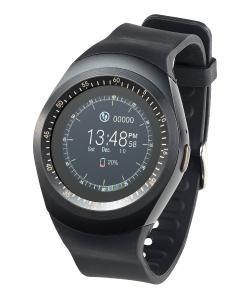 simvalley MOBILE 2in1 Handyuhr und Smartwatch mit rundem Display PW 410 Bluetooth 3 .0. Foto: PEARL.GmbH