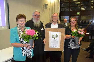 Verleihung des Ökumenepreises der ACK Deutschland (2.v.l. ACK-Vorsitzender R.C. Miron)