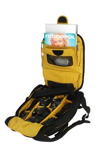 """Muffin Top Full Photo Fits 1 camera + 5 lenses + accessories and 15"""" laptop"""