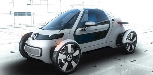 Forschungsfahrzeug VW Nils: Vier Räder und geringe Verkehrsfläche, ideal für Megacities? (Foto: Volkswagen)