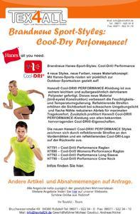 Brandneue Hanes-Sport-Styles: Cool-Dri® Performance