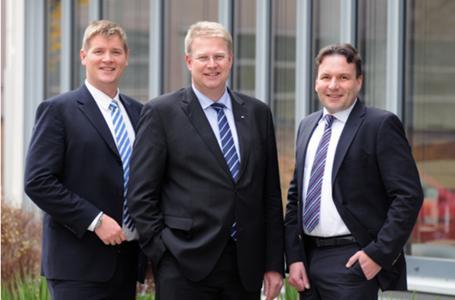 Führen ab sofort gemeinsam die Geschäfte der TÜV SÜD CRS (v.l.n.r): Dr. Peter Beermann, Roland Vogt und Karsten Storch
