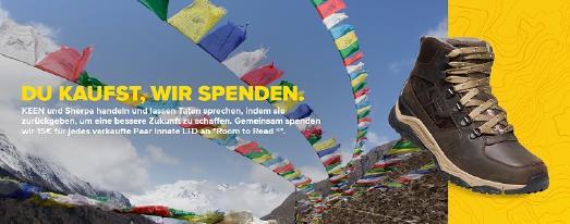 KEEN Innate x Sherpa Projekt Banner ©KEEN, KEEN-Markenbotschafter Jasper Doest sowie KEEN-Fans