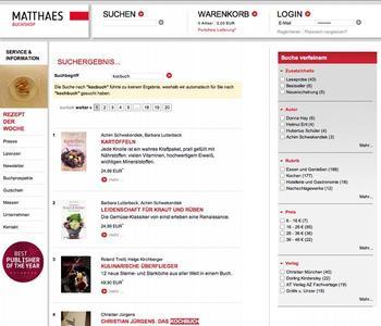 Schneller zum richtigen Buch - ipunkt optimiert Suche für Matthaes-Buchshop