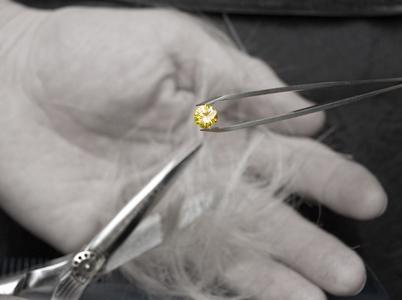Mood-Foto Diamant, Haare, Schere s/w