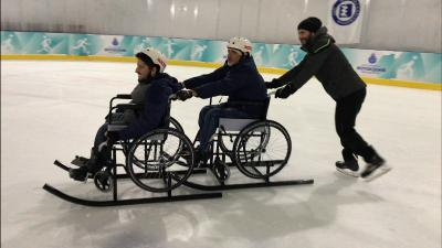 "The ""We're Overcoming the Barriers on the Ice Rink"" event was held at Istanbul Metropolitan Municipality Silivrikapi Ice Rink"