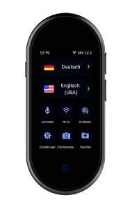 simvalley Mobile Mobiler Echtzeit-Sprachübersetzer TTL-105 mit 105 Sprachen, Kamera, WLAN & ANC