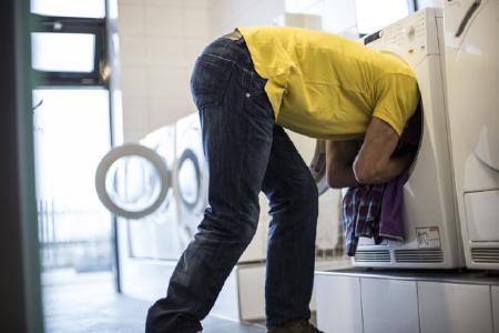 Ausreichend Platz in der Waschmaschine ist vorhanden