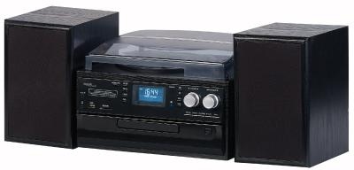 auvisio 5in1-Plattenspieler mit DAB+/FM-Radio, Bluetooth, CD-Player, Software (Bild: PEARL.GmbH)