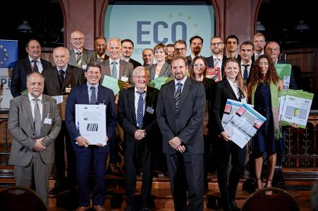 Handover ceremony of ECO EPDs to manufacturers from all over Europe.
