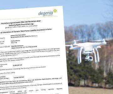 Drohne fliegen ohne Versicherungsbestätigung - das kann teuer werden