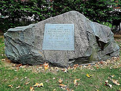 Gedenkstein für Kriegsdienstverweigerer (Tavistock Square, London) © Foto: Tim Tregenza/Wikimedia Commons (CC BY-SA 3.0)