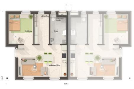 Grundriss Glueckswelthaus Duo (Bild: Town & Country Haus Lizenzgeber GmbH)