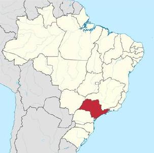 Bundesstaat São Paulo in Brasilien © Grafik: TUBS/Wikimedia Commons